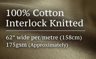 100% Cotton Interlock Knitted promo