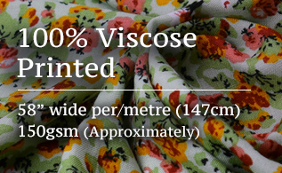 100% viscose printed fabric promo