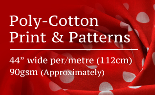 Poly-cotton print fabrics promo